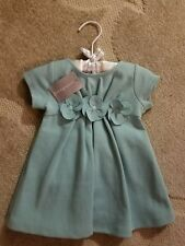 First Impressions Baby Girl Dress 3-6 Months Aqua Haze 2 Pc Item NWT
