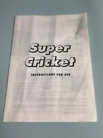 Super Cricket  ~ Ideal Games ~ Instructions   ~ Spare Part