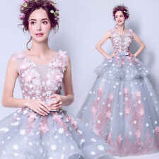 Evening Formal Party Ball Gown Prom Bridesmaid Embroidered Wedding Dress TSY2352