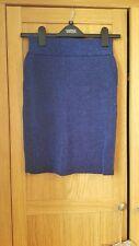 blue sparkly high waisted bodycon asos skirt size 6