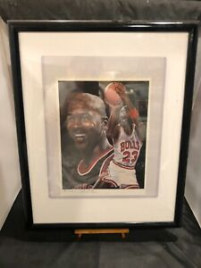 MICHAEL JORDAN Rare Art By ANGELO MARINO Numbered 216/300 Chicago Bulls NBA