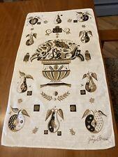 """Rare George Briard Linen Dish Towel 25x14 in """""""