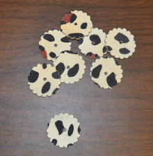 "Concho - 1 3/4"" Leather - White w/spots Real Stingray - Set of 8 (E50)"