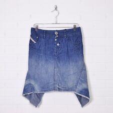 Diesel Industry Blue Distressed Cut Off Asymmetrical Denim Jean Mini Skirt 28