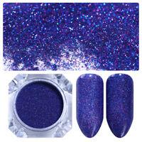 BORN PRETTY Purple Starry Holographic Laser Powder Holo Nail Art Glitter Decor