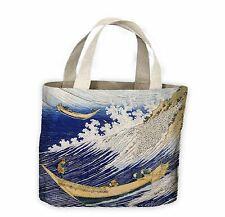Hokusai Ocean Waves Tote Shopping Bag a vita-Giappone Giapponese