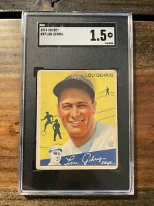 1934 Goudey Lou Gehrig #37 SGC 1.5 New York Yankees GREAT COLOR! PSA