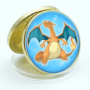 Charizard Spirit Japan Cute Animal Coin Gold Plated Challenge Coin New Year Gift