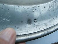 """RARE 52"""" Antique 1770 Colonial Pewter HALLMARKED TRENCHER /CHARGER, IDENTIFIED!!"""