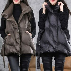 Fashion Design Women's Sleeveless Down Vest Winter Lightweight Warm Jacket Tops