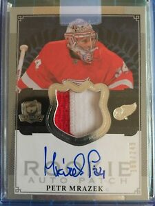 2013-14 Upper Deck The Cup Petr Mrazek Rookie Patch Auto RPA /249