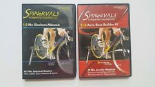Spinervals Cycling Dvds Lot of 2 1.0 21.0 Interval Aerobase