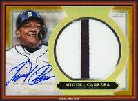 2020 Topps Five Star MIGUEL CABRERA Auto Jumbo Patch 06/10 Tigers Autograph