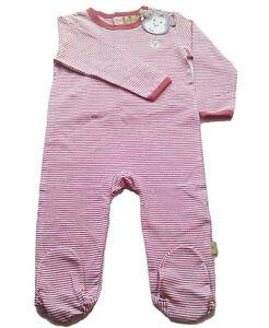 Schlafanzug Gr.80 Bellybutton NEU Einteiler rot geringelt bär baby