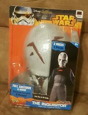 Disney Star Wars The Inquisitor Action Suit Size 8-10 Costume and-Mask. New