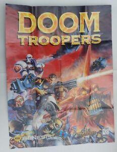 Sega Genesis Doom Troopers Earthworm Jim 1 2 Game Gear Poster Insert Authentic