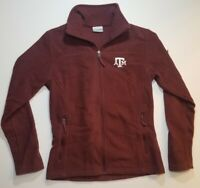 Columbia Womens Texas A&M Full Zip Fleece Jacket Size Small Maroon