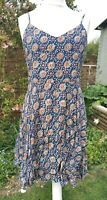 Medium Approx Size 12-14 Blue Strappy Fit n Flare Dress, Gap, Worn Once