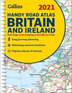 GB Road Atlas Britain 2021 Handy A5 Spiral by Collins Maps 9780008374396