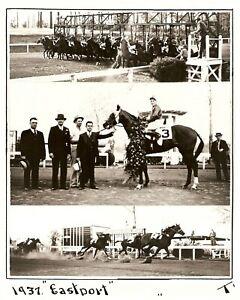 "1937 - Arkansas Derby Winner - EASTPORT - 3 Photo Composite - 8"" x 10"""