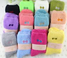 3 Pairs Ladies Women Girls Soft Fluffy Socks Warm Winter Cosy Lounge Bed Socks