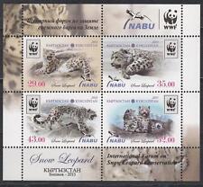 Fauna Kyrgyzstan Kirgistan 2013 MNH** 750-753 Bl.65 A  Forum of Snow Leopard