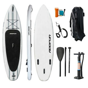 """Premium 10'6"""" Inflatable StandUp Paddle Board Surfboard 6"""" Thick w/Accessories"""