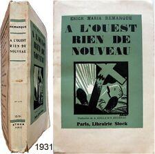 À l'ouest rien de nouveau 1931 Erich Maria Remarque dessin couverture Becan