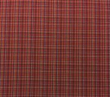 "FABRICUT NAMATH GRAPES PURPLE RED BROWN WOVEN COTTON PLAID FABRIC BY YARD 54""W"