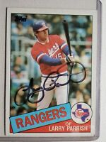 1985 Topps Larry Parrish Autograph Rangers Red Sox Expos Auto Card #548 Signed