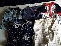 Lot of 5 Baby Boy CARTER'S, Footed Sleepers Pajamas Size  NB to 3 months. Cute!