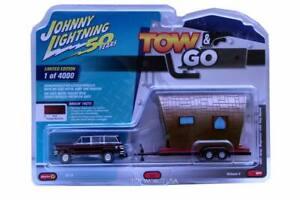 2019 Johnny Lightning Tow & Go #1 1981 Jeep Wagoneer with Tiny House B,2