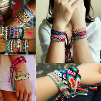 Handmade Boho Ethnic Woven Braided Friendship Bracelet Wristband Anklet Jewelry