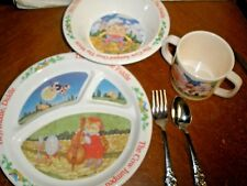 Zak Nursery Rhyme Humpty Hey Diddle Plastic Divided Plate Bowl Cup Fork Spoon