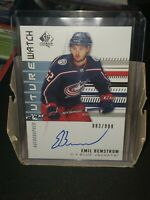 2019-20 UD SP Authentic Future Watch Rookies Auto #212 Emil Bemstrom /999