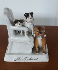 More details for three pug dogs the orphans victorian china fairing