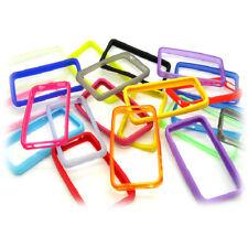 iPhone 4 4s Soft Plastics Rubber Bumper Cases Cover Protector Multiple Colours