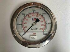 Stewarts High Pressure Glycerin Filled Gauge 30000 Psi 2000 Bar