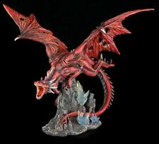 Große rote Drachen Figur - Red Fury - Große rote Drachen Figur - Red Fury