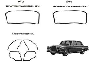 Mercedes Benz W108  WINDOWS DOOR RUBBER Seal Gaskets 280S 250SE 280SE SET OF 6PC