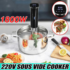1800W Digital Sous Vide Cooker LCD Stainless Precise Immersion Circulator