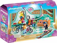 Playmobil City life 9402. Tienda de bicicletas y skate. Más de 5 años. 41 pzs