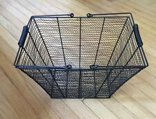 Primitive Black Wire Egg Gathering Basket Handle Metal Farmhouse Decor
