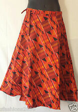 African Kente Fabric Cloth wrap around Skirt Maxi Vintage 70s Free size Print #8