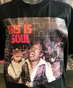 THIS IS SOUL - 1960's SOUL -  100% COTTON  T-SHIRT with Full Colour Vinyl Print