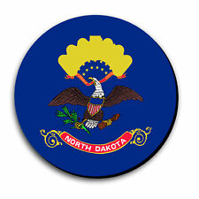 North Dakota State Flag Mouse Pad Non-Slip 8in Round 1/8in Thick MADE IN USA