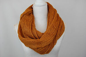 Womens Ladies Snood Chunky Knit Knitted Winter Soft Neck Warmer  Scarf