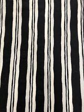 Ralph Lauren Home Black White Striped Queen Bed Skirt Dust Ruffle 100% Cotton