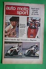 AUTO MOTO SPORT N.8 1976 AGOSTINI CECCOTTO SAAB LANCIA RALLY CHAPMAN ANDRETTI
