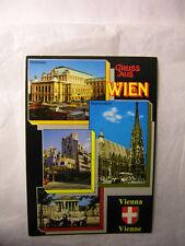 Vienna Austria POSTCARD Vtg. 8/2/90 Rare STAMPS